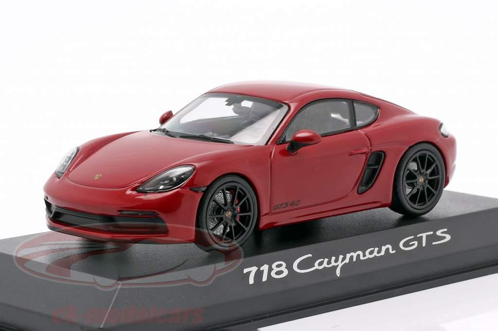 Porsche 718 Cayman GTS 4.0 carminio rosso / nero 1:43 Minichamps