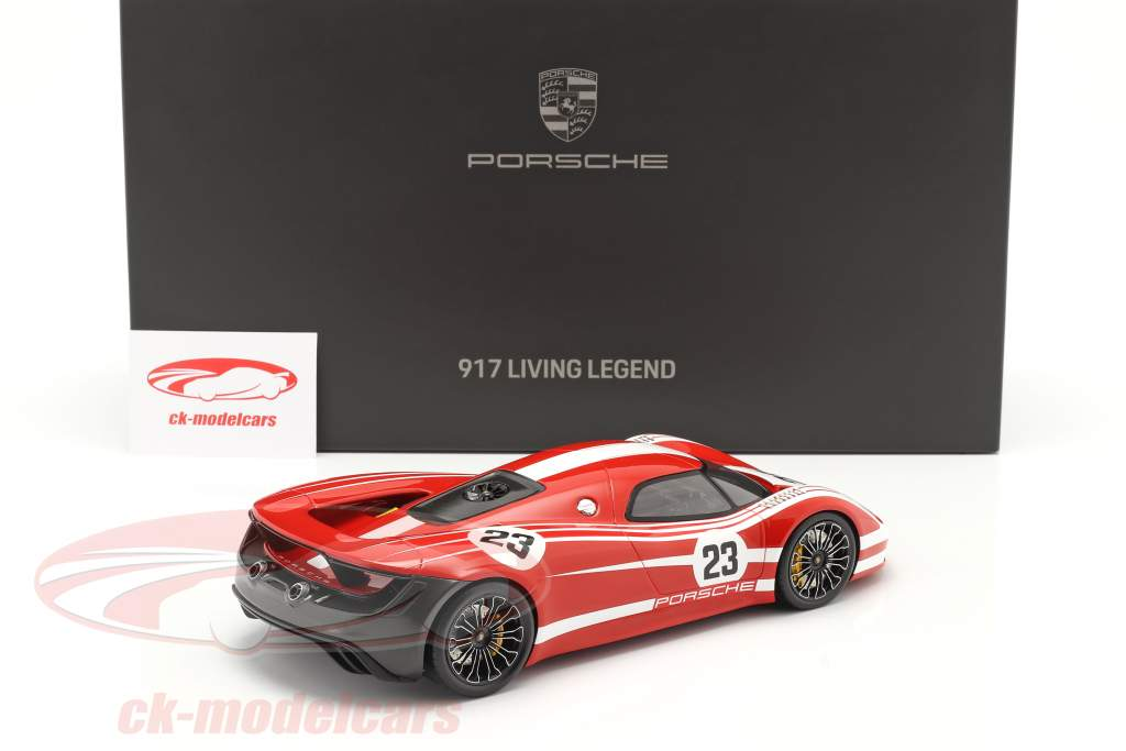 Porsche 917 Living Legend Concept Car #23 红 / 白色 用 展示柜 1:18 Spark