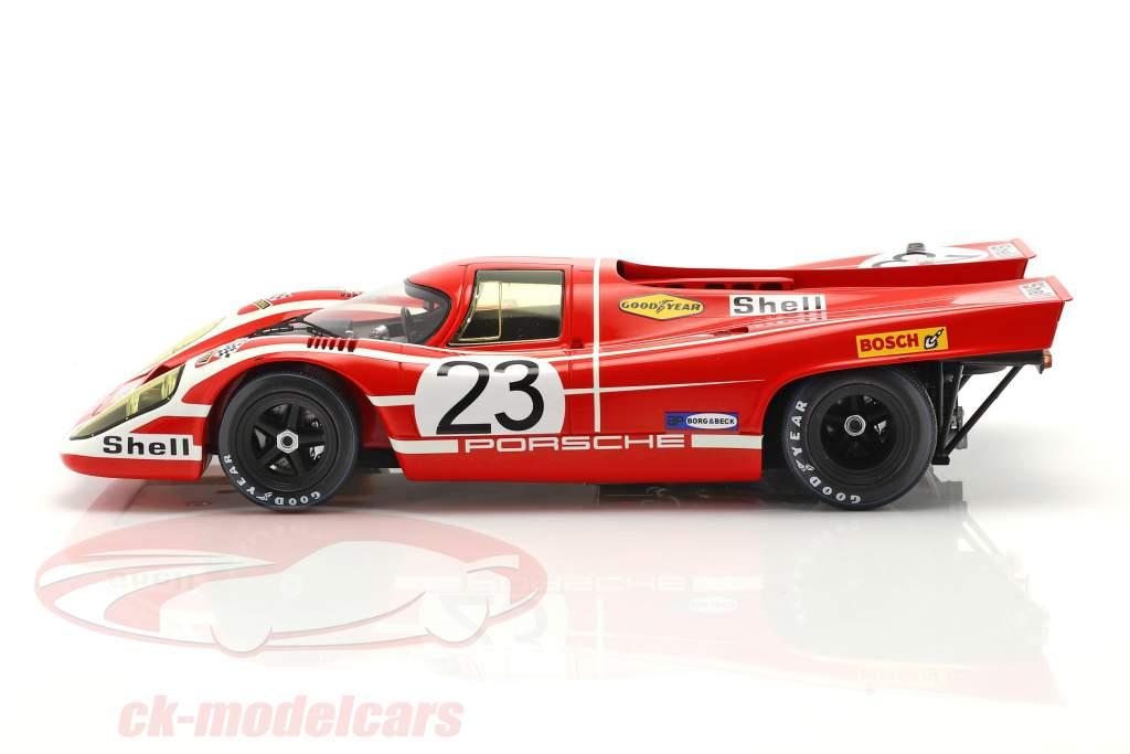 Porsche 917K #23 vinder 24h LeMans 1970 Attwood, Herrmann Med Udstillingsvindue 1:18 Spark