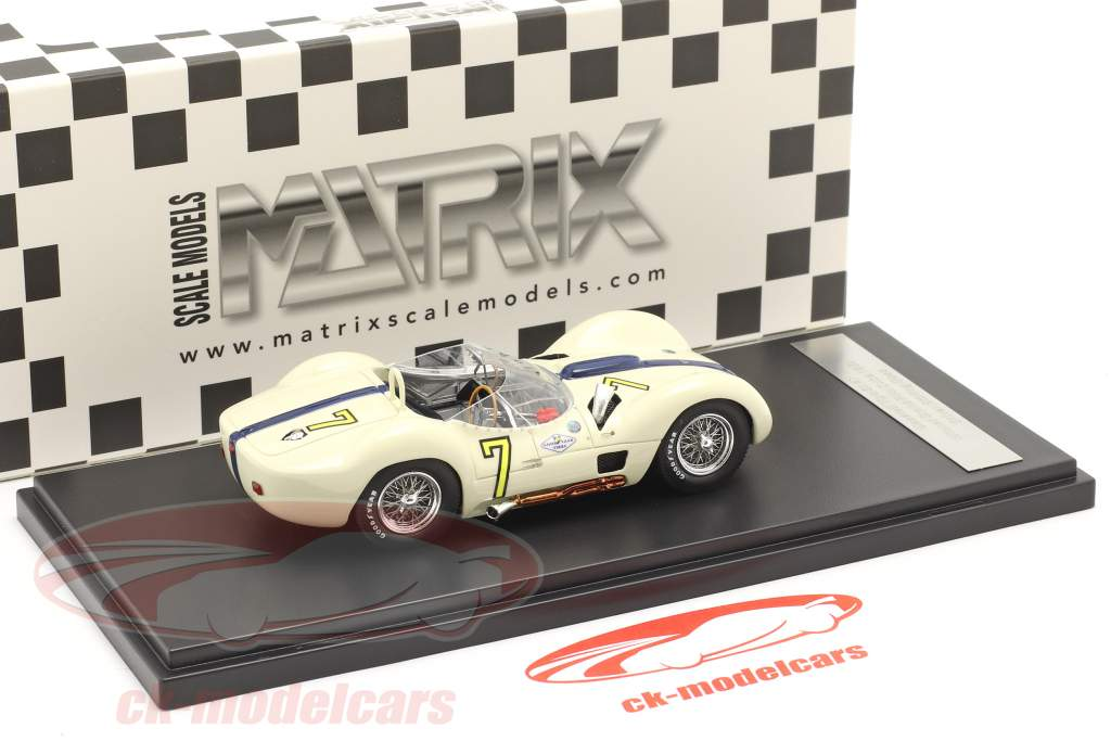 Maserati Tipo 61 #7 winnaar Libertad GP Cuba 1960 Moss 1:43 Matrix