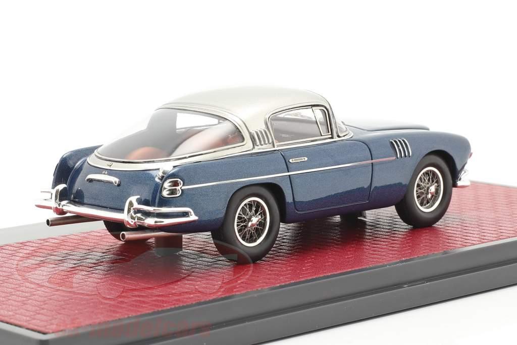 Aston Martin DB2/4 Vignale HRH king Baudouin 1954 blue metallic 1:43 Matrix