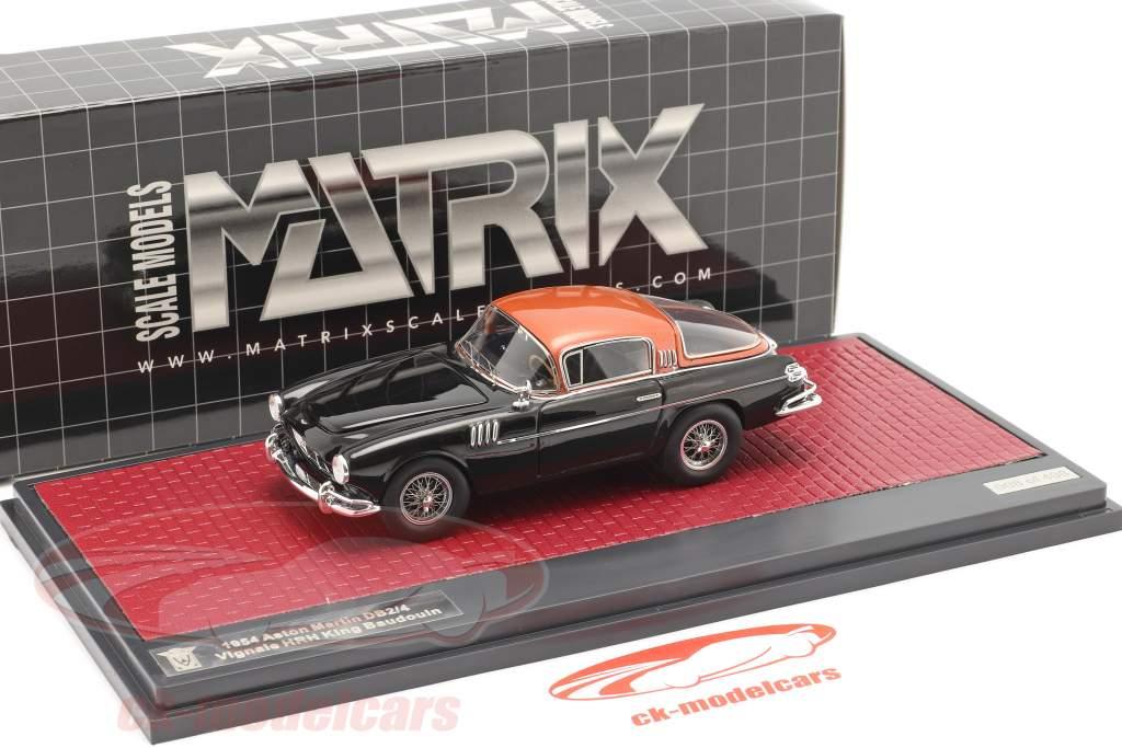 Aston Martin DB2/4 Vignale HRH König Baudouin 1954 schwarz / kupfer 1:43 Matrix