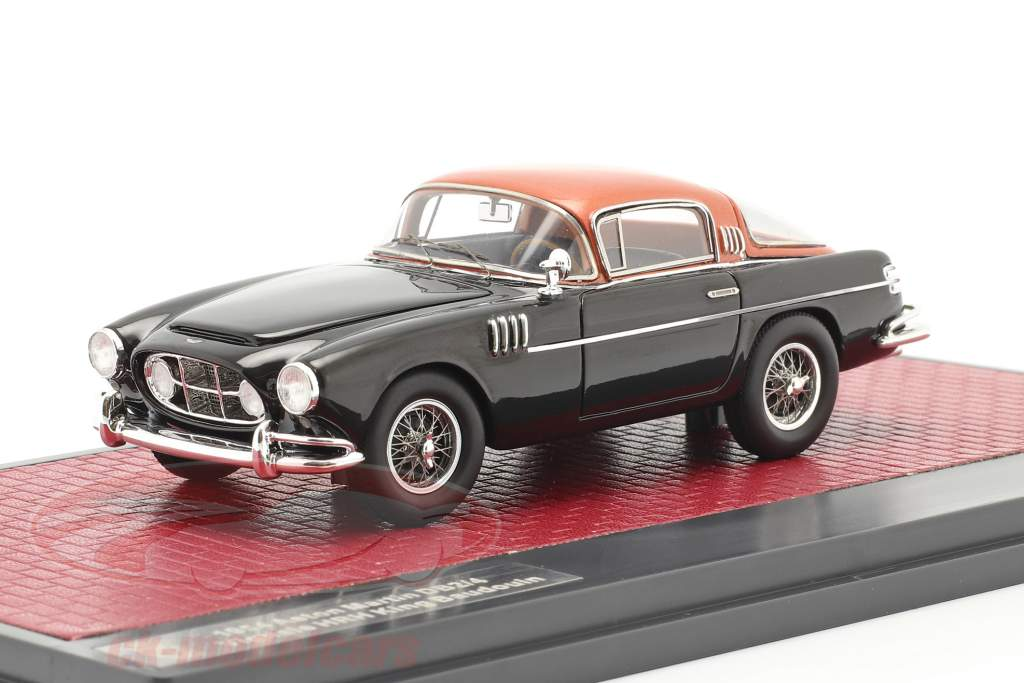 Aston Martin DB2/4 Vignale HRH Rey Baudouin 1954 negro / cobre 1:43 Matrix