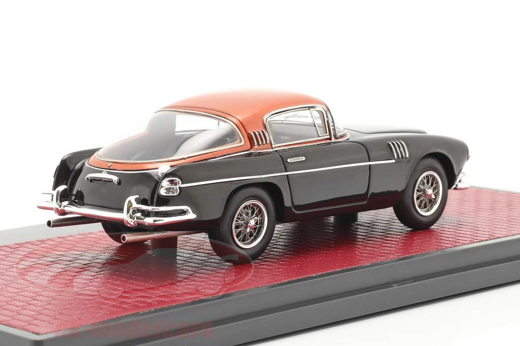Aston Martin DB2/4 Vignale HRH konge Baudouin 1954 sort / kobber 1:43 Matrix