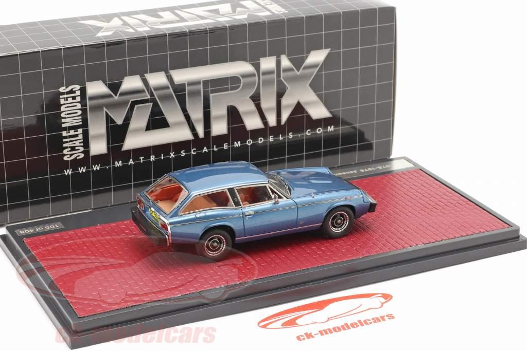 Jensen GT Bouwjaar 1975-1976 blauw metalen 1:43 Matrix