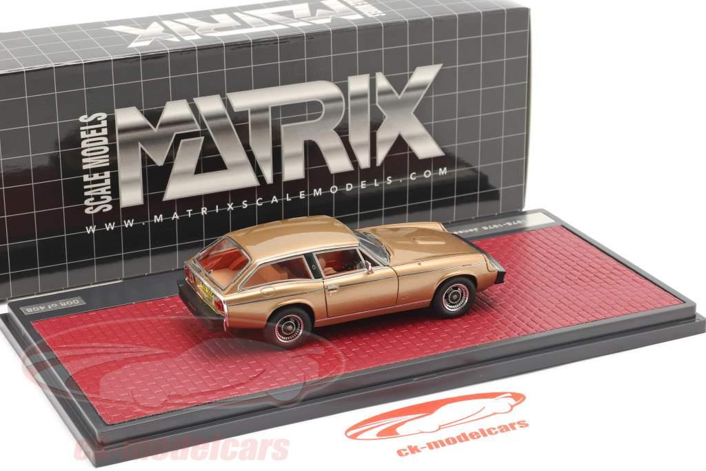 Jensen GT Año de construcción 1975-1976 oro metálico 1:43 Matrix