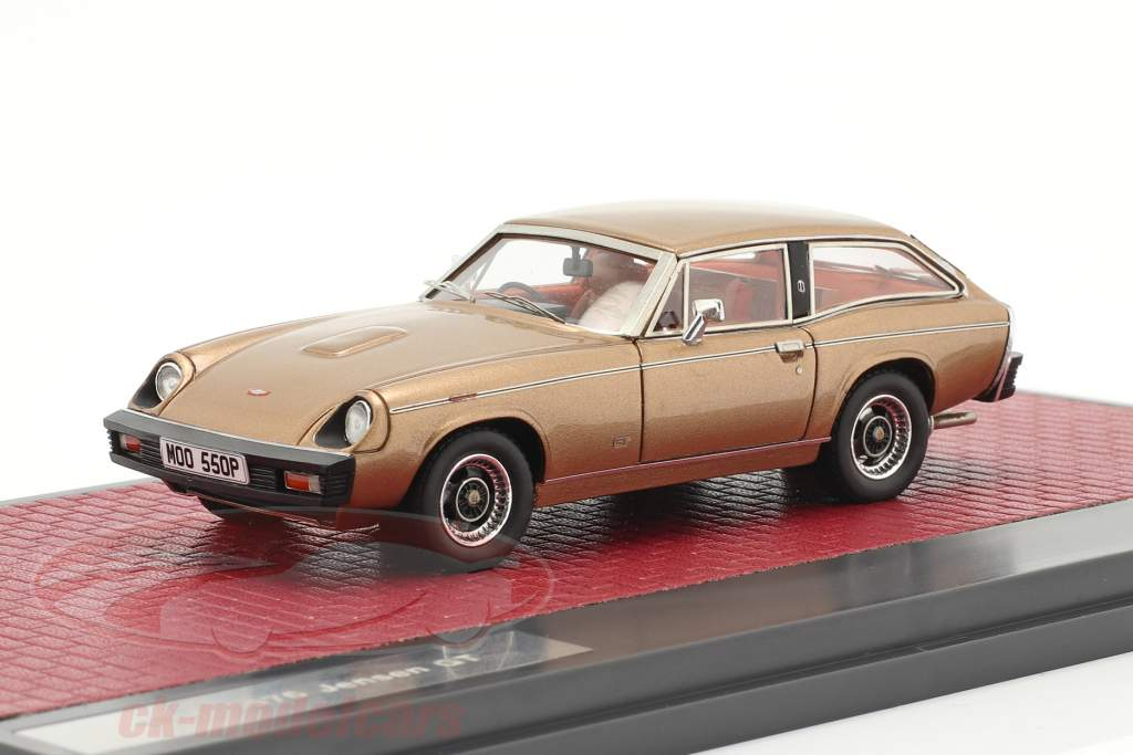 Jensen GT Byggeår 1975-1976 guld metallisk 1:43 Matrix