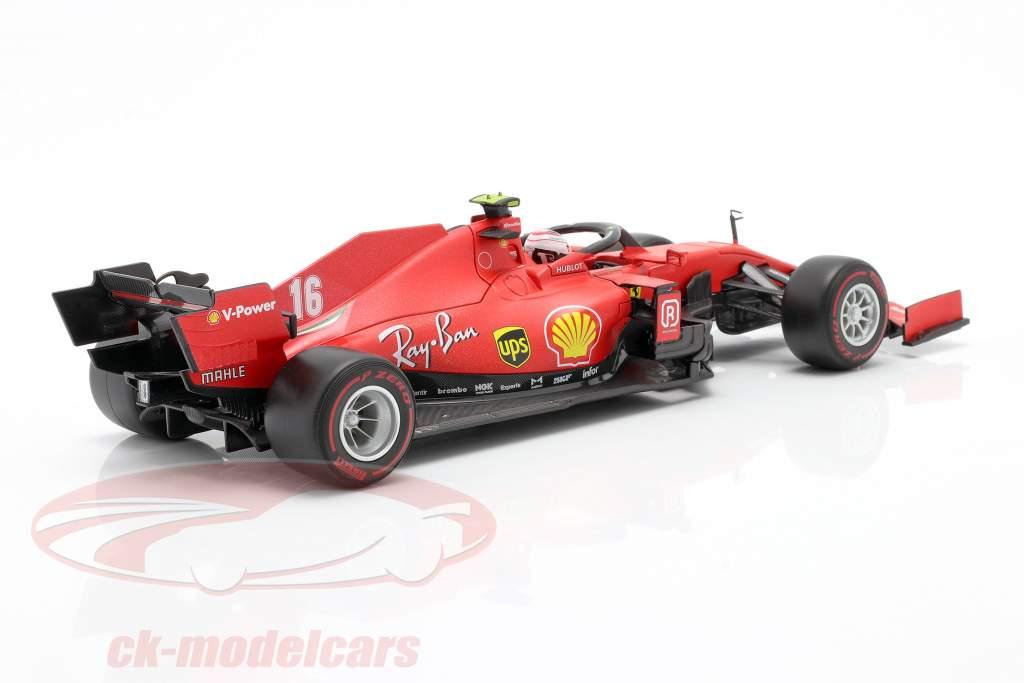 Charles Leclerc Ferrari SF1000 #16 第二名 奥地利人 GP 式 1 2020 1:18 Bburago