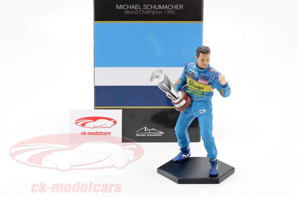 Michael Schumacher figur formel 1 Verdensmester 1995 1:10 MBA