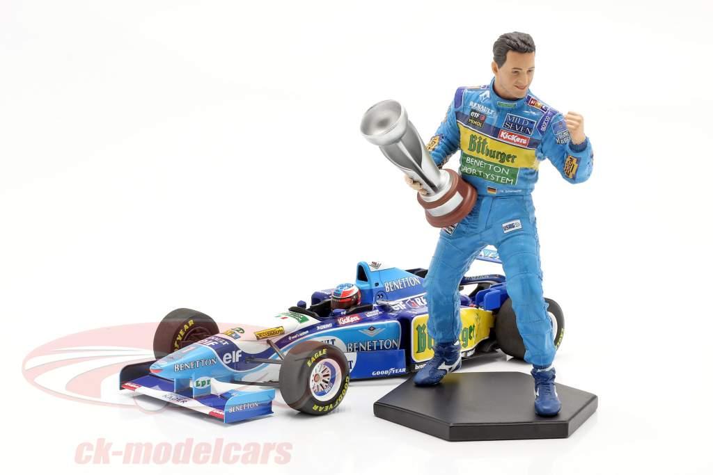 Michael Schumacher figuur formule 1 Wereldkampioen 1995 1:10 MBA