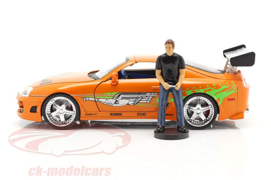 Brian's Toyota Supra 1995 Movie Fast & Furious (2001) with figure 1:18 Jada Toys