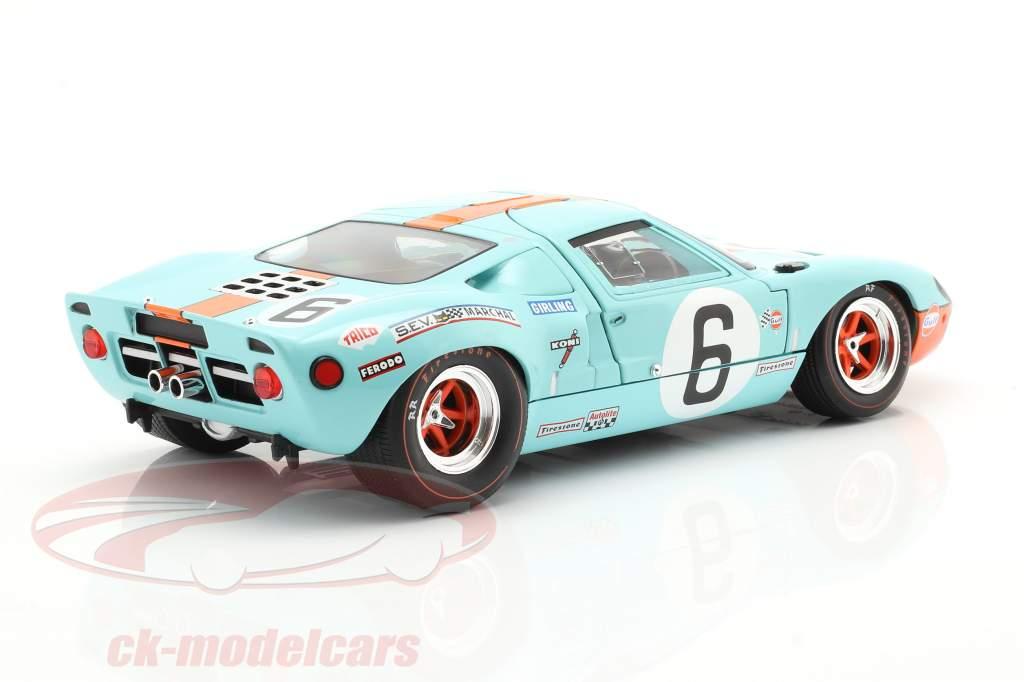 Ford GT40 MK1 #6 Ganador 24h LeMans 1969 Ickx, Oliver 1:18 Solido