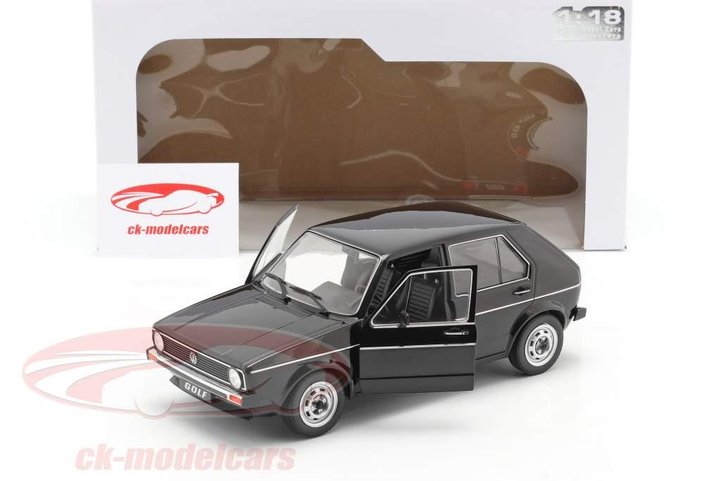 Volkswagen VW Golf L Ano de construção 1983 Preto 1:18 Solido