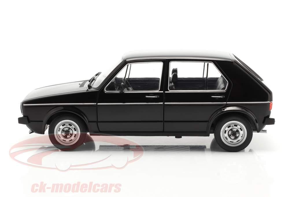 Volkswagen VW Golf L Année de construction 1983 noir 1:18 Solido