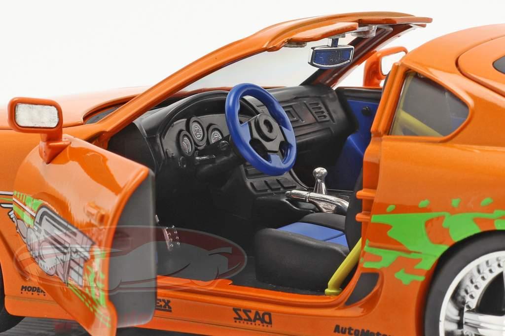 Brian's Toyota Supra 1995 Film Fast & Furious (2001) Con figura 1:18 Jada Toys