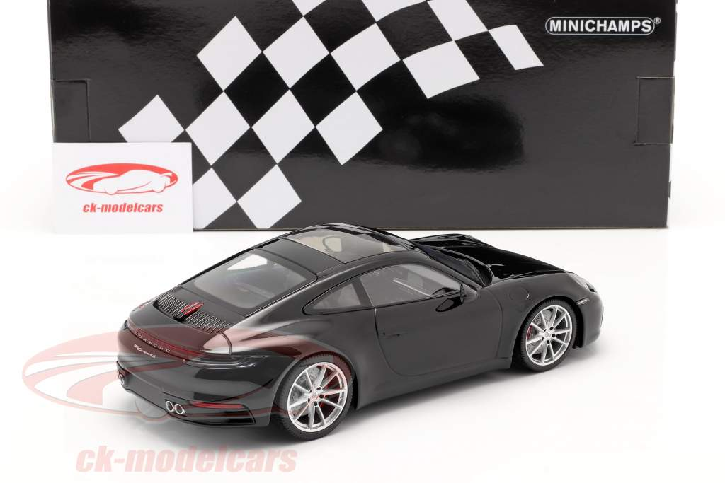 Porsche 911 (992) Carrera 4S year 2019 black 1:18 Minichamps