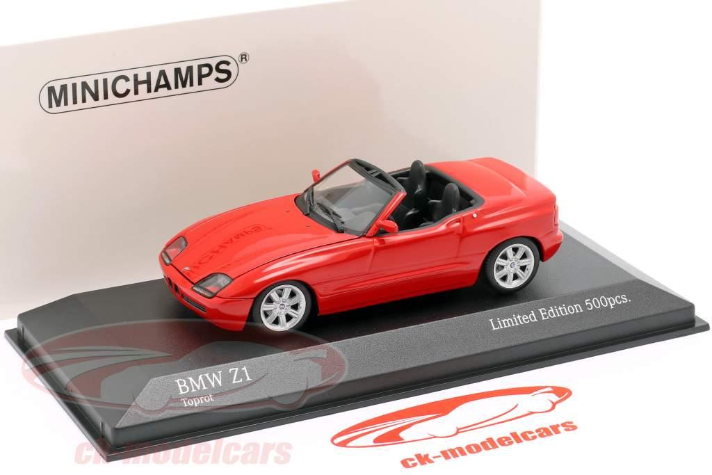 BMW Z1 (E30) Año de construcción 1991 rojo 1:43 Minichamps