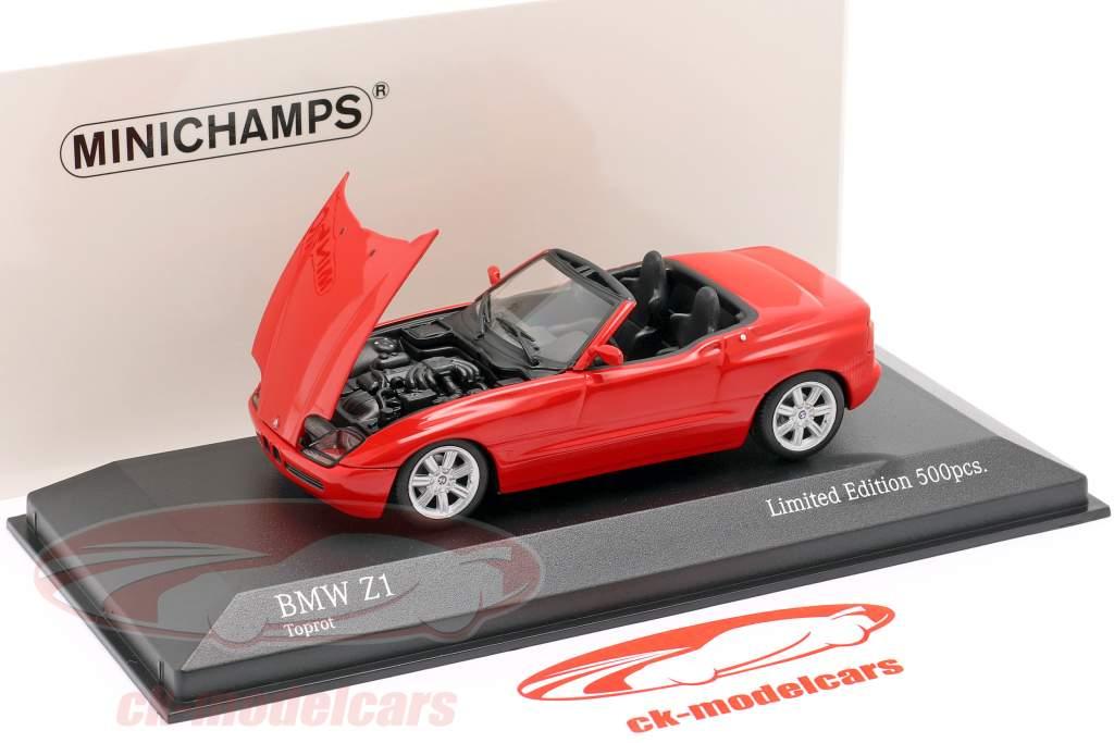 BMW Z1 (E30) Anno di costruzione 1991 rosso 1:43 Minichamps