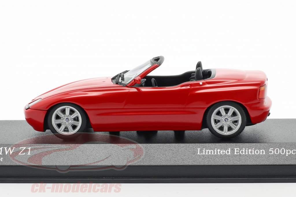 BMW Z1 (E30) Byggeår 1991 rød 1:43 Minichamps