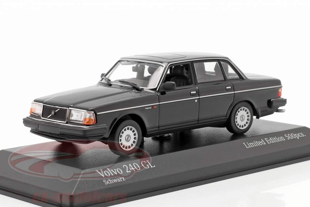 Volvo 240 GL Année de construction 1986 noir 1:43 Minichamps