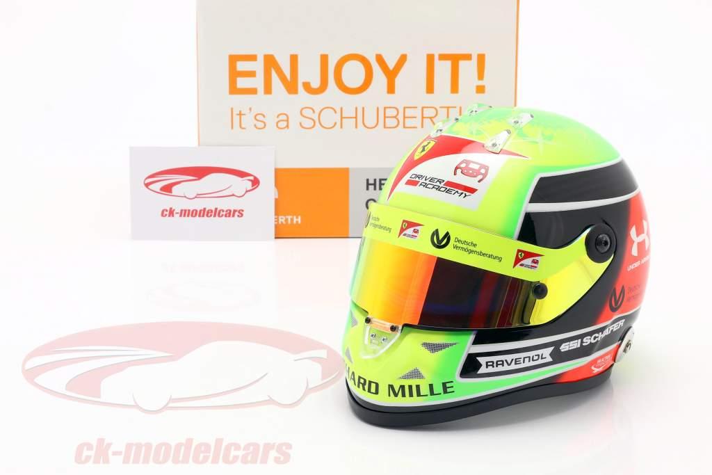 Mick Schumacher Prema Racing #20 fórmula 2 Champion 2020 casco 1:2 Schuberth