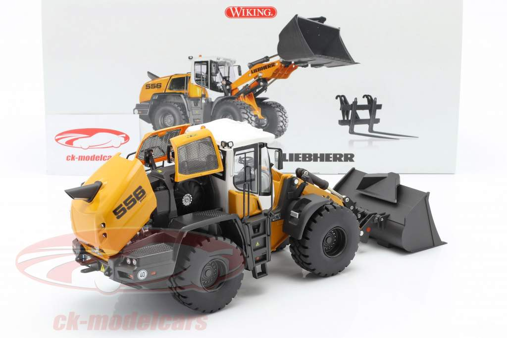 Liebherr Wheel loader L 556 XPower yellow / white / black 1:32 Wiking