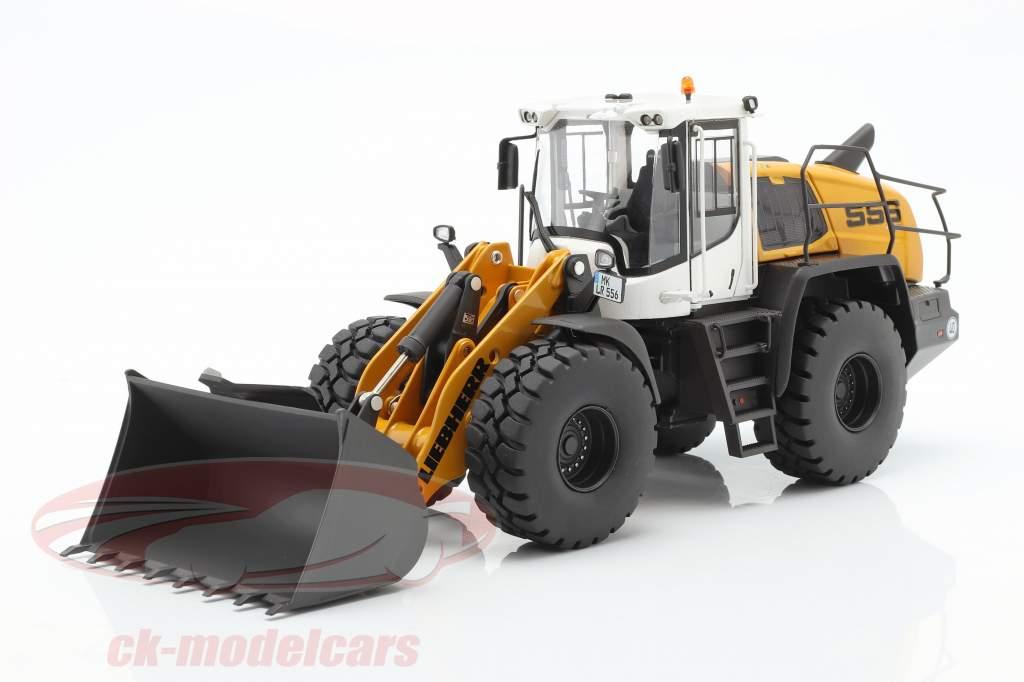 Liebherr Hjullæsser L 556 XPower gul / hvid / sort 1:32 Wiking