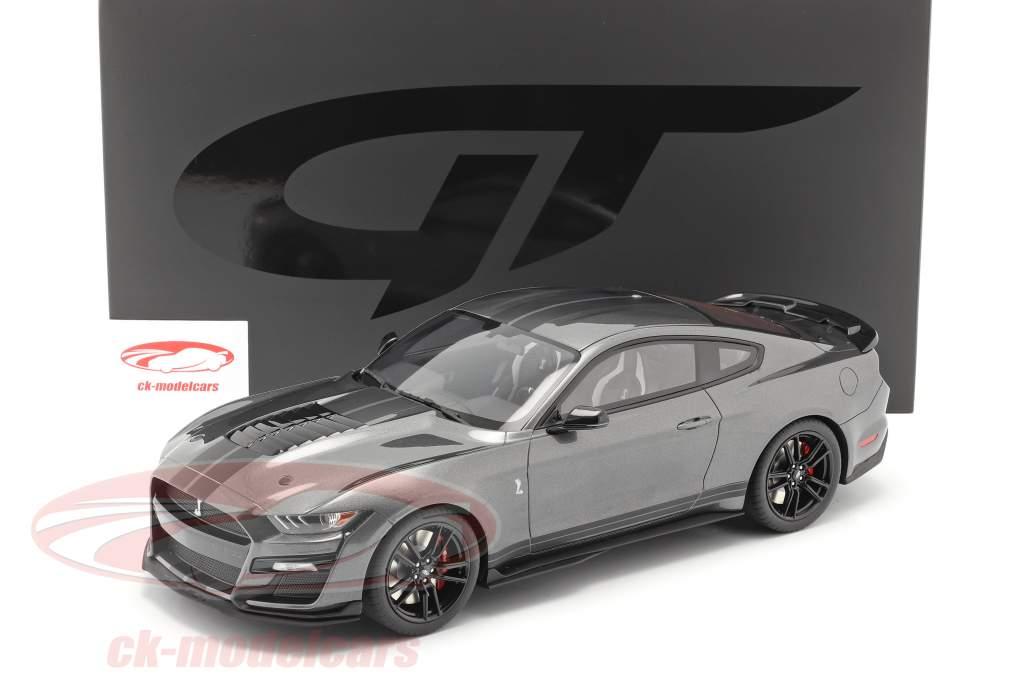 Ford Mustang Shelby GT500 Byggeår 2020 magnetisk grå 1:12 GT-Spirit