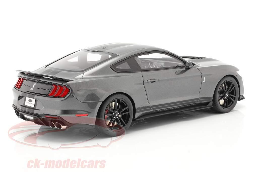 Ford Mustang Shelby GT500 Baujahr 2020 magnetgrau metallic 1:12 GT-Spirit