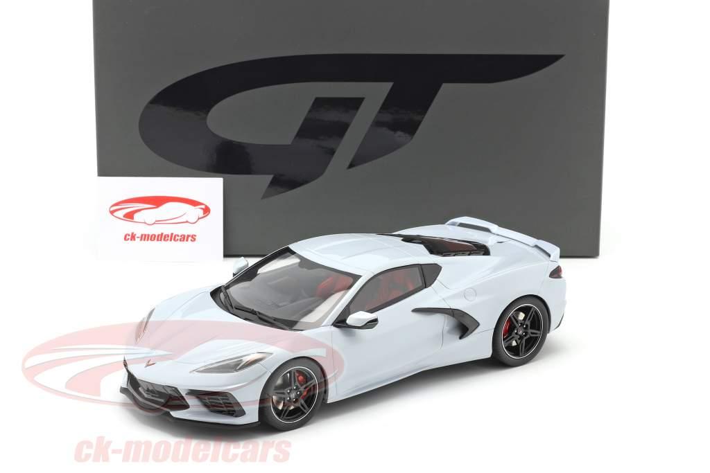 Chevrolet Corvette C8 Byggeår 2020 keramisk grå metallisk 1:18 GT-Spirit