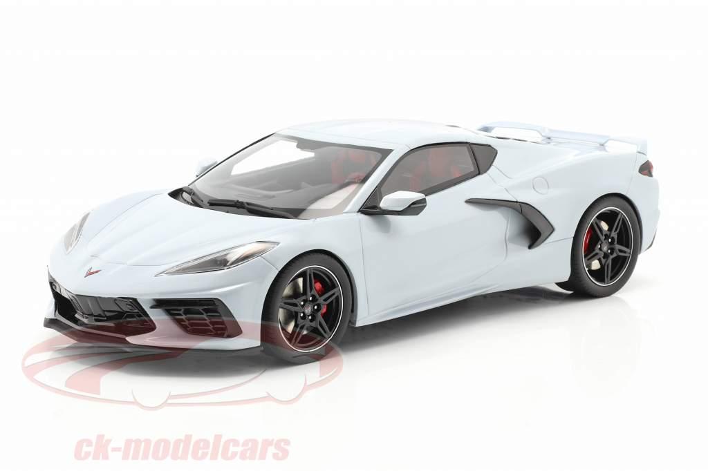 Chevrolet Corvette C8 Année de construction 2020 gris céramique métallique 1:18 GT-Spirit