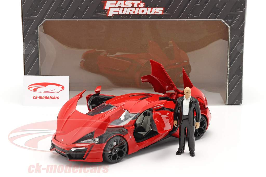 Dom's Lykan Hypersport 2014 Fast & Furious 7 (2015) Con figura 1:18 Jada Toys