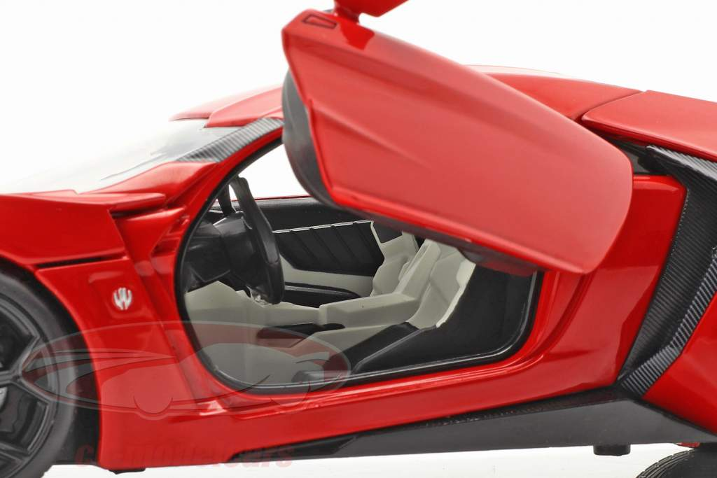 Dom's Lykan Hypersport 2014 Fast & Furious 7 (2015) Med figur 1:18 Jada Toys