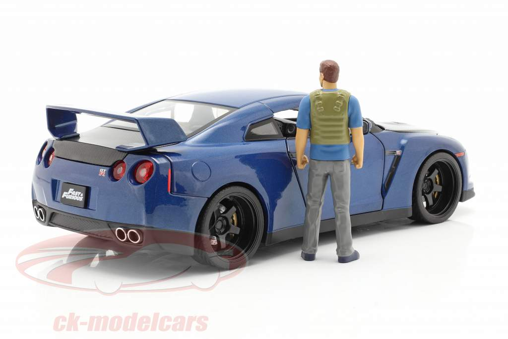 Brian's Nissan GT-R (R35) 2009 Fast & Furious 7 (2015) With figure 1:18 Jada Toys