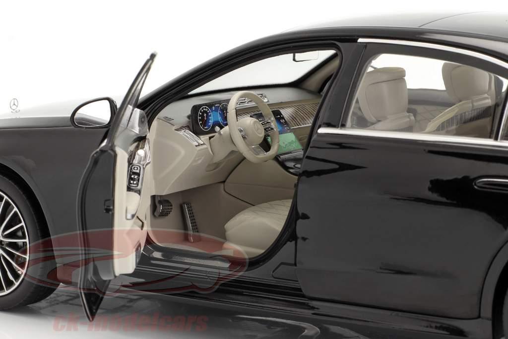 Mercedes-Benz S-class (V223) year 2020 onyx black 1:18 Norev
