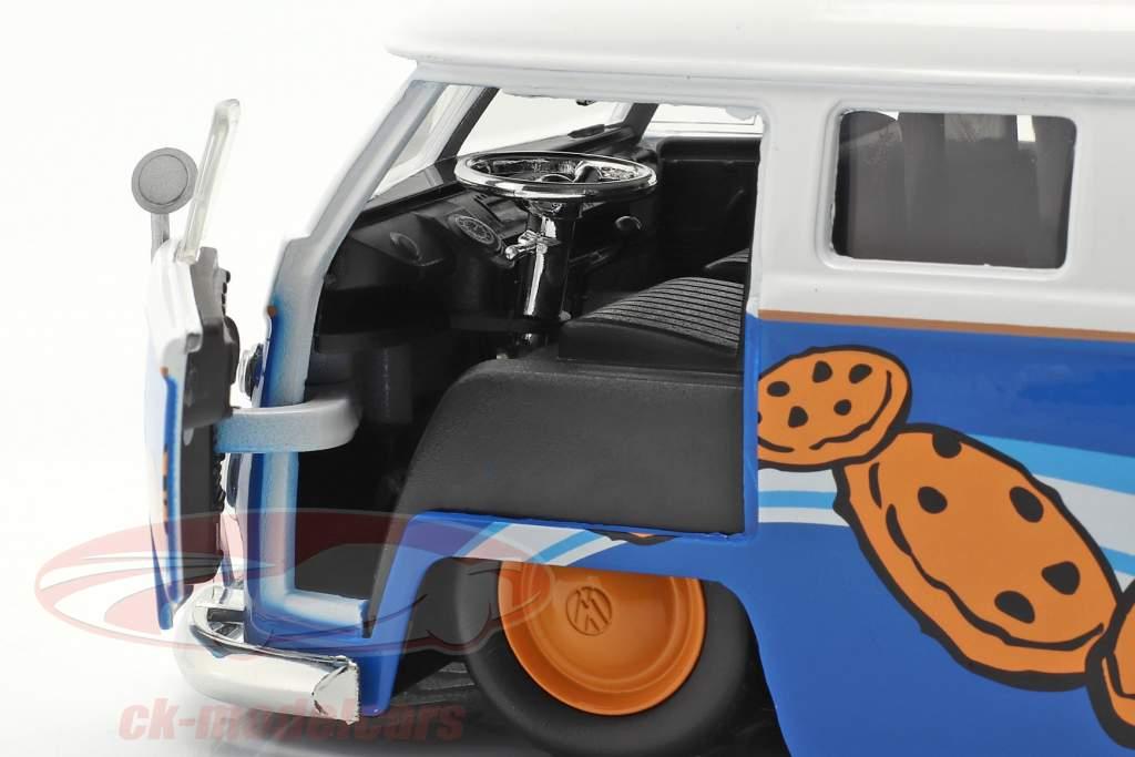 Volkswagen VW Bus PickUp 1963 Con Figura di Sesame Street Cookie mostro 1:24 Jada Toys