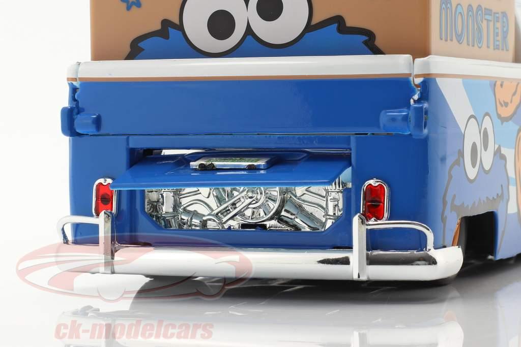 Volkswagen VW Bus PickUp 1963 Com Figura da Vila Sésamo Bolacha monstro 1:24 Jada Toys