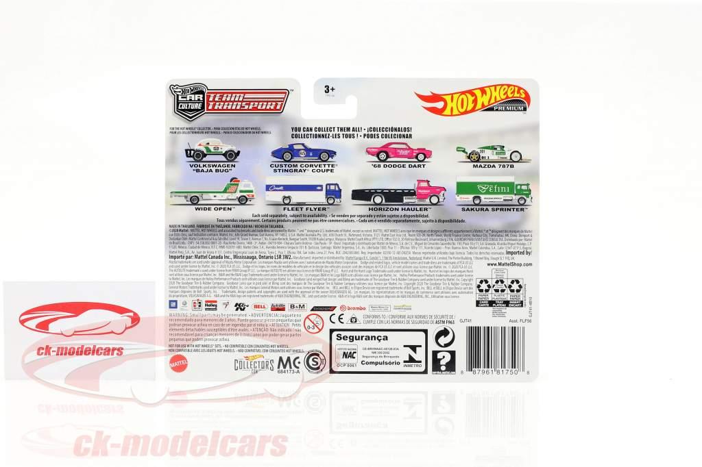 Set Team Transport: Custom Corvette Stingray Coupe & Fleet Flyer 1:64 HotWheels