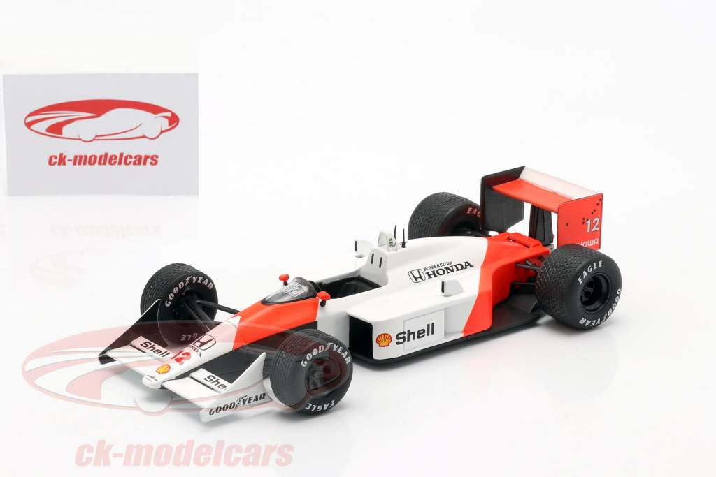 Ayrton Senna McLaren MP4/4 #12 F1 World Champion 1988 1:24 Premium Collectibles