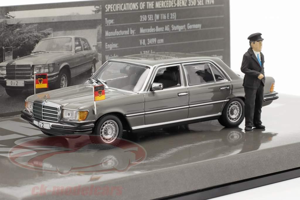Mercedes-Benz 350 SEL (W116) Bundeskanzler Helmut Schmidt 1972 1:43 Minichamps