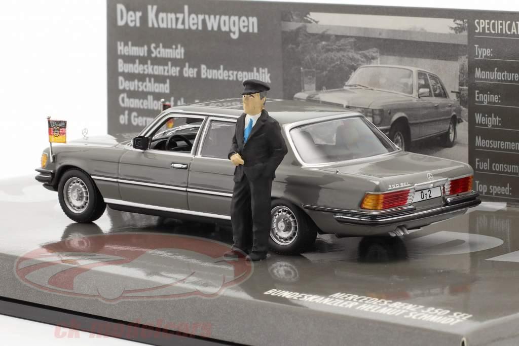 Mercedes-Benz 350 SEL (W116) Chanceler Helmut Schmidt 1972 1:43 Minichamps