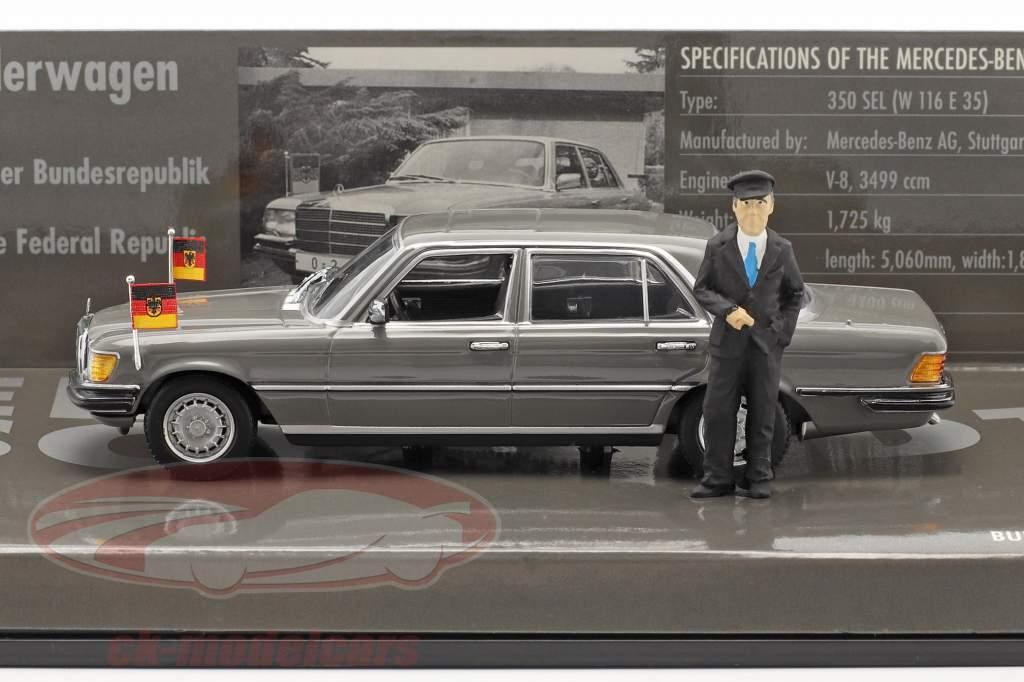 Mercedes-Benz 350 SEL (W116) Canciller Helmut Schmidt 1972 1:43 Minichamps