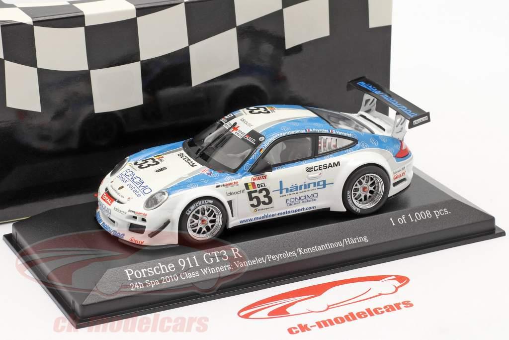 Porsche 911 GT3 R #53 Clase Ganador 24h Spa 2010 1:43 Minichamps