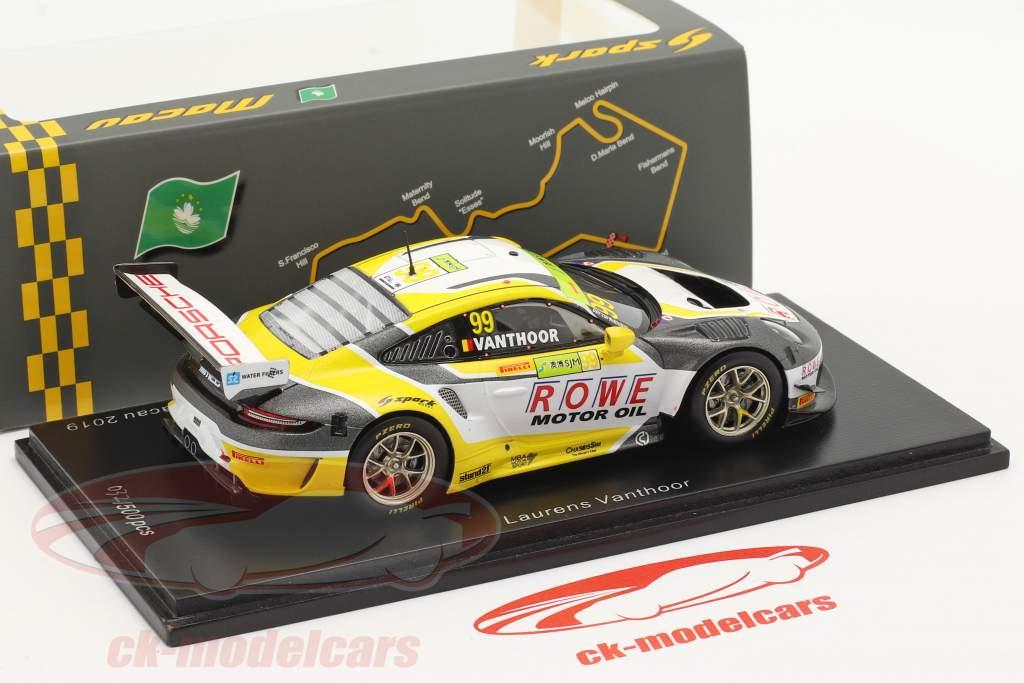 Porsche 911 GT3 R #99 2ª FIA GT World Cup Macau 2019 L. Vanthoor 1:43 Spark