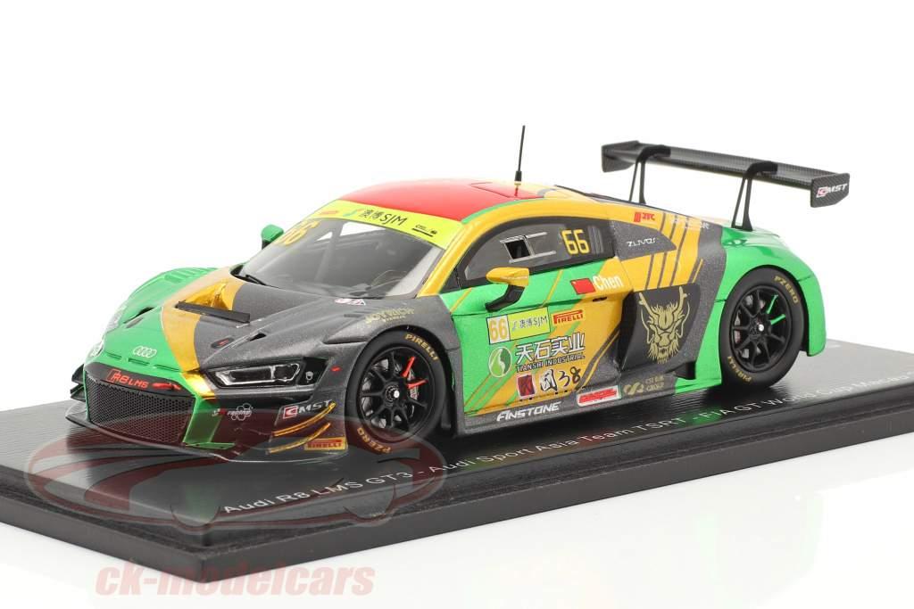 Audi R8 LMS #66 FIA GT World Cup Macau 2019 Weian Chen 1:43 Spark