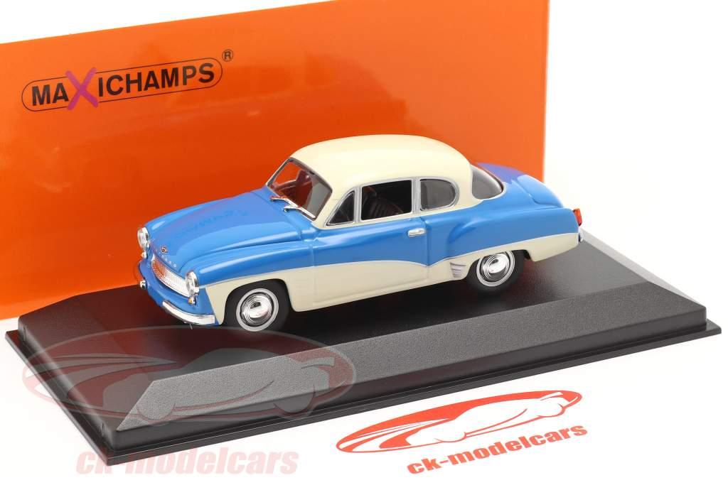Wartburg 311 Coupe año 1958 azul / blanco 1:43 MInichamps