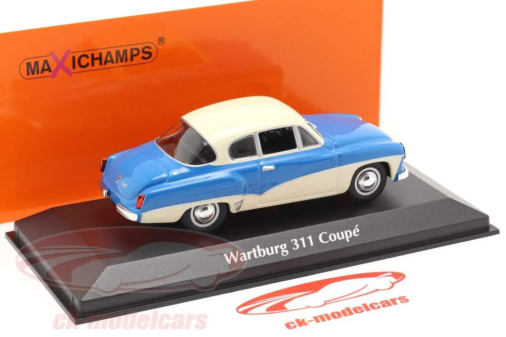 Wartburg 311 Coupe anno 1958 blu / bianca 1:43 MInichamps
