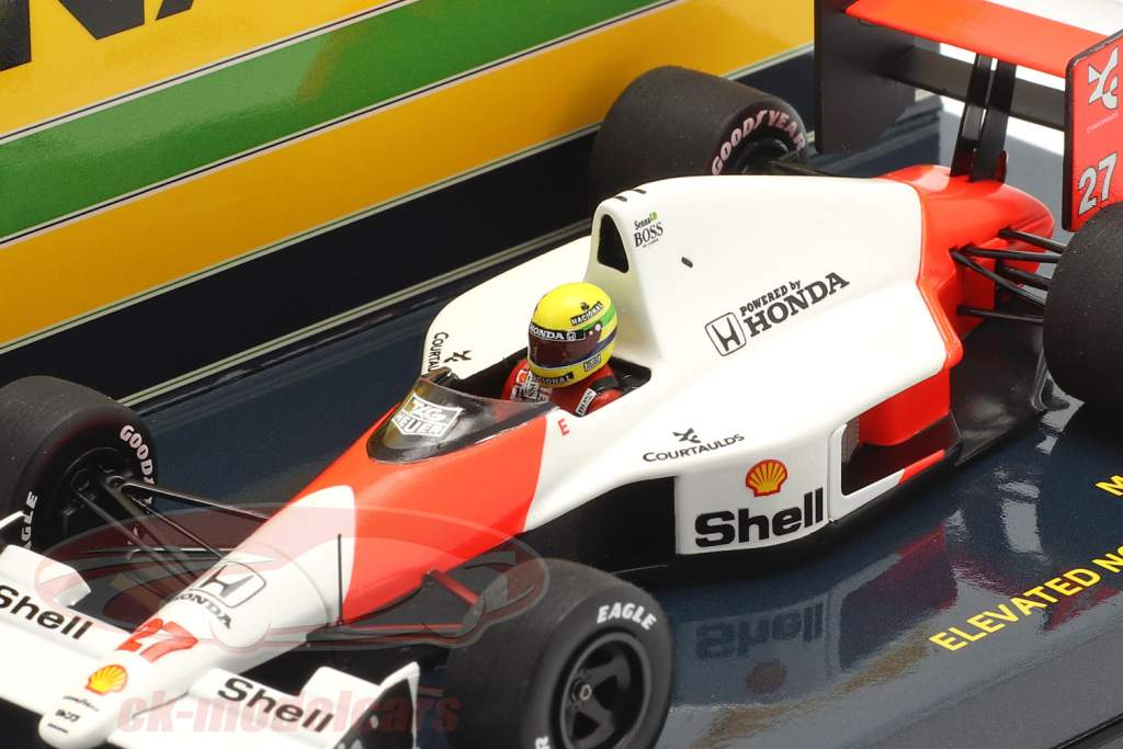 A. Senna McLaren MP4/5B #27 High Nose Test F1 Verdensmester 1990 1:43 Minichamps