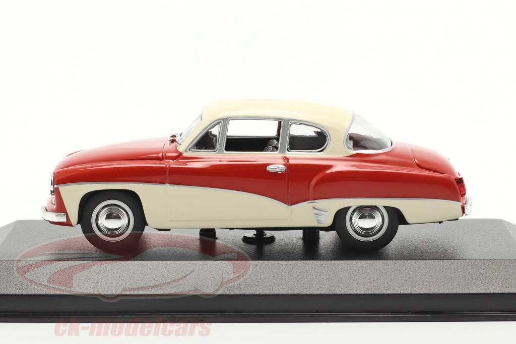 Wartburg 311 Coupe år 1958 rød / hvid 1:43 MInichamps