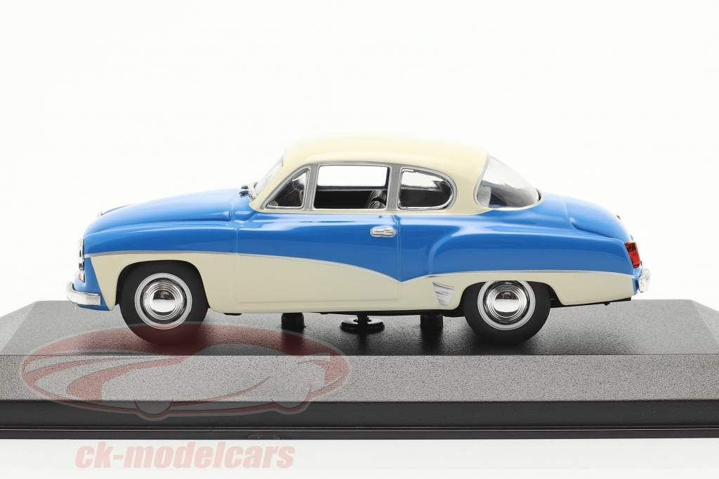Wartburg 311 Coupe år 1958 blå / hvid 1:43 MInichamps
